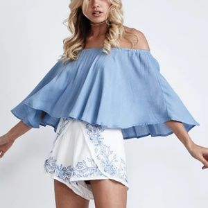 Morrisday Ellie Off the Shoulder Top NWT